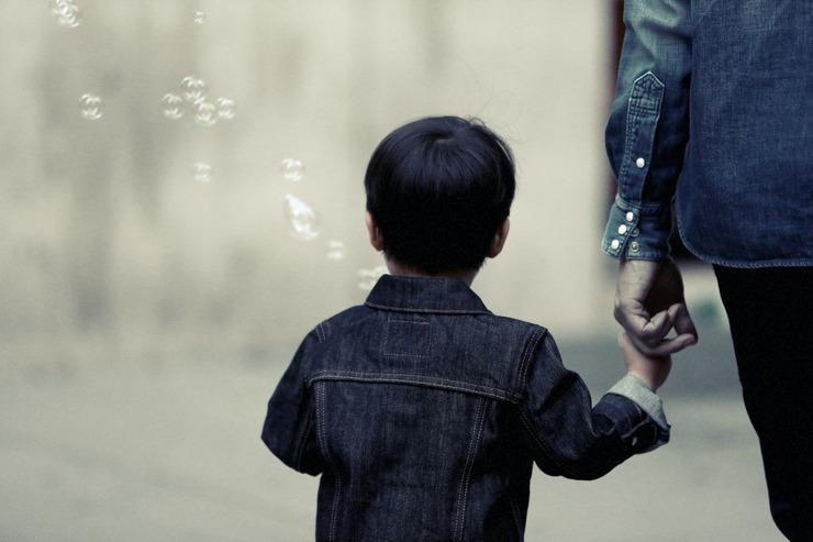 dziecko z rodzicem